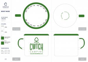 Cwtch Camping Enamel Mugs