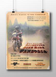 Cambodia Adventure Bike Poster