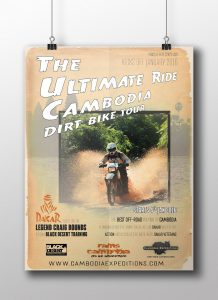 Cambodia Ultimate Ride Posters and Flyers Design