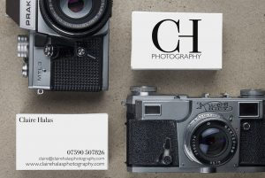 Claire Halas Business Card, Branding and Logo