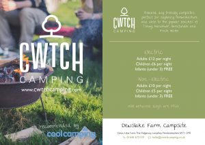Cwtch Camping Postcards