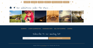 Stackpole Under the Stars Website Design